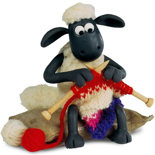 shaun knitting