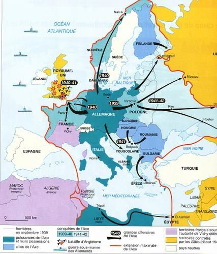 Carte Europe Seconde Guerre Mondiale.La Seconde Guerre Mondiale 1939 1945 Partie I Le