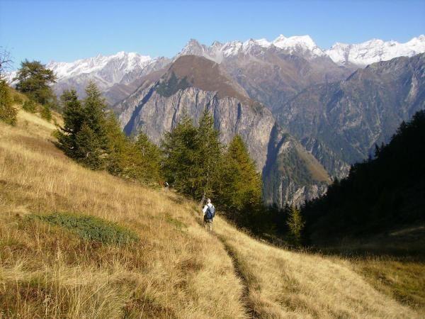 Il monte Sosto sopra Campo Blenio