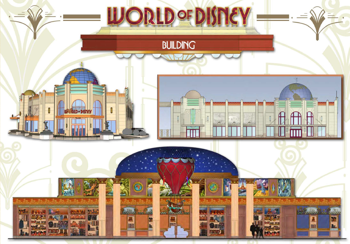World of disney se d voile dlrp express for World boutique