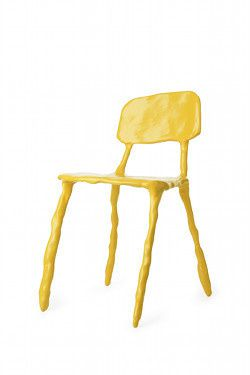 BAAS Maarten-CLAY chair yellow