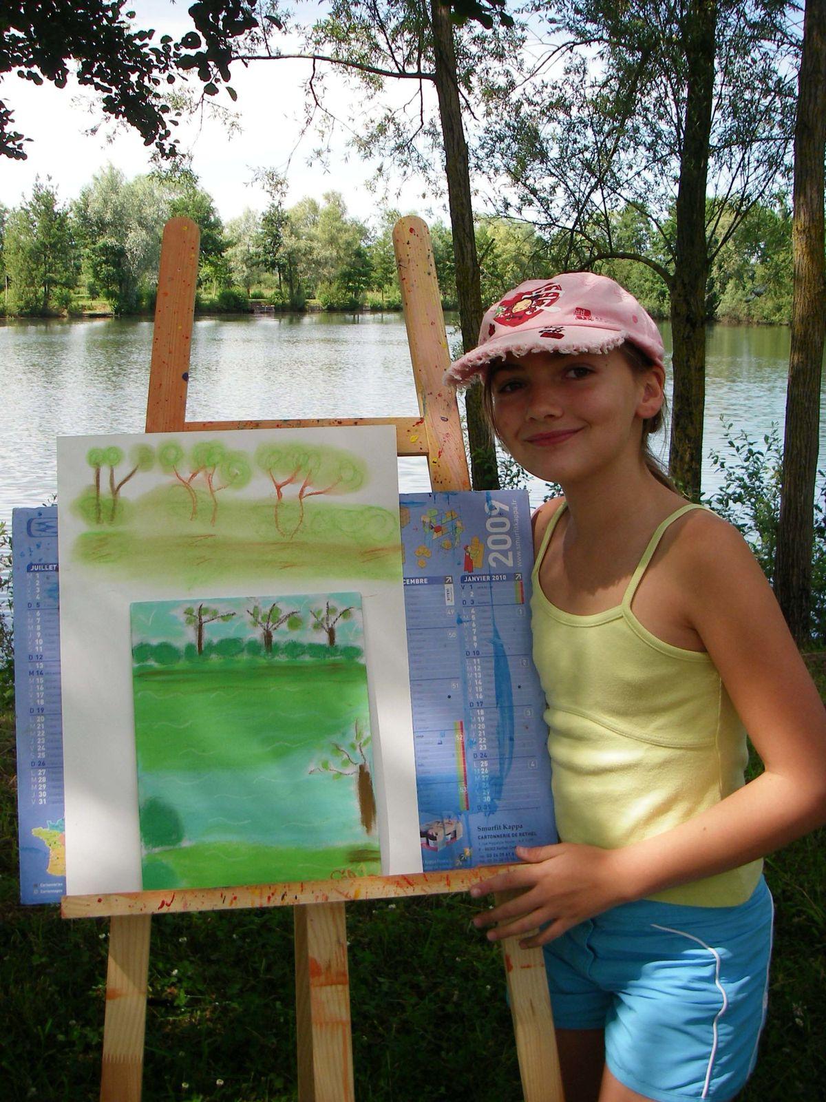 Atelier de Flo.M-atelier exterieur-peinture-enfants