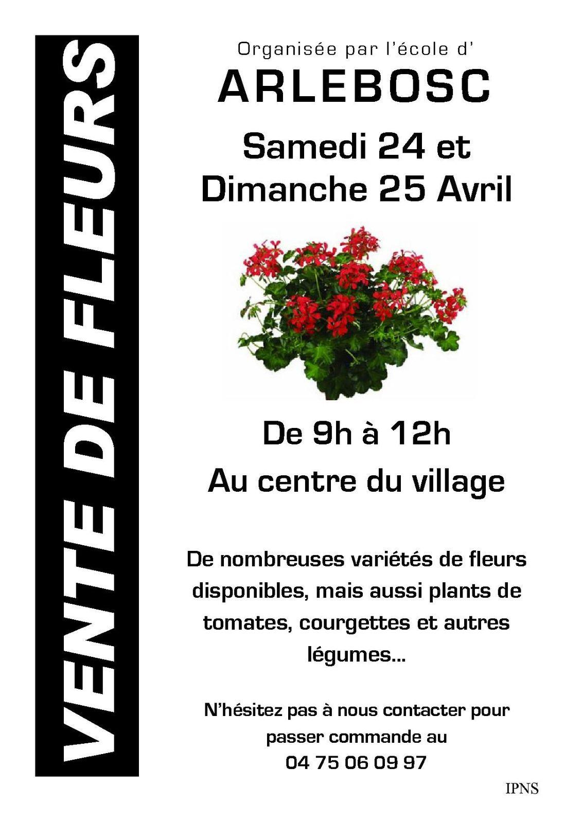 Vente plants fleurs et legumes 24 et 25 avril mairie d for Fleurs vente