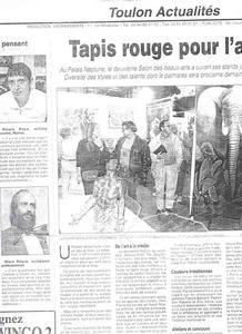 Exposition de peintures, article de presse du 2nd salon des beaux arts de Toulon.