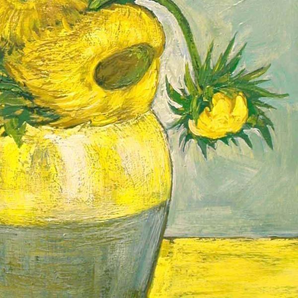 Copies de tableaux, peintures connues, natures mortes. '' D'APRES VINCENT ''. Détail d'une copie dans l'esprit de Vincent Van Gogh par Alexandre Houllier, artiste peintre sculpteur décorateur