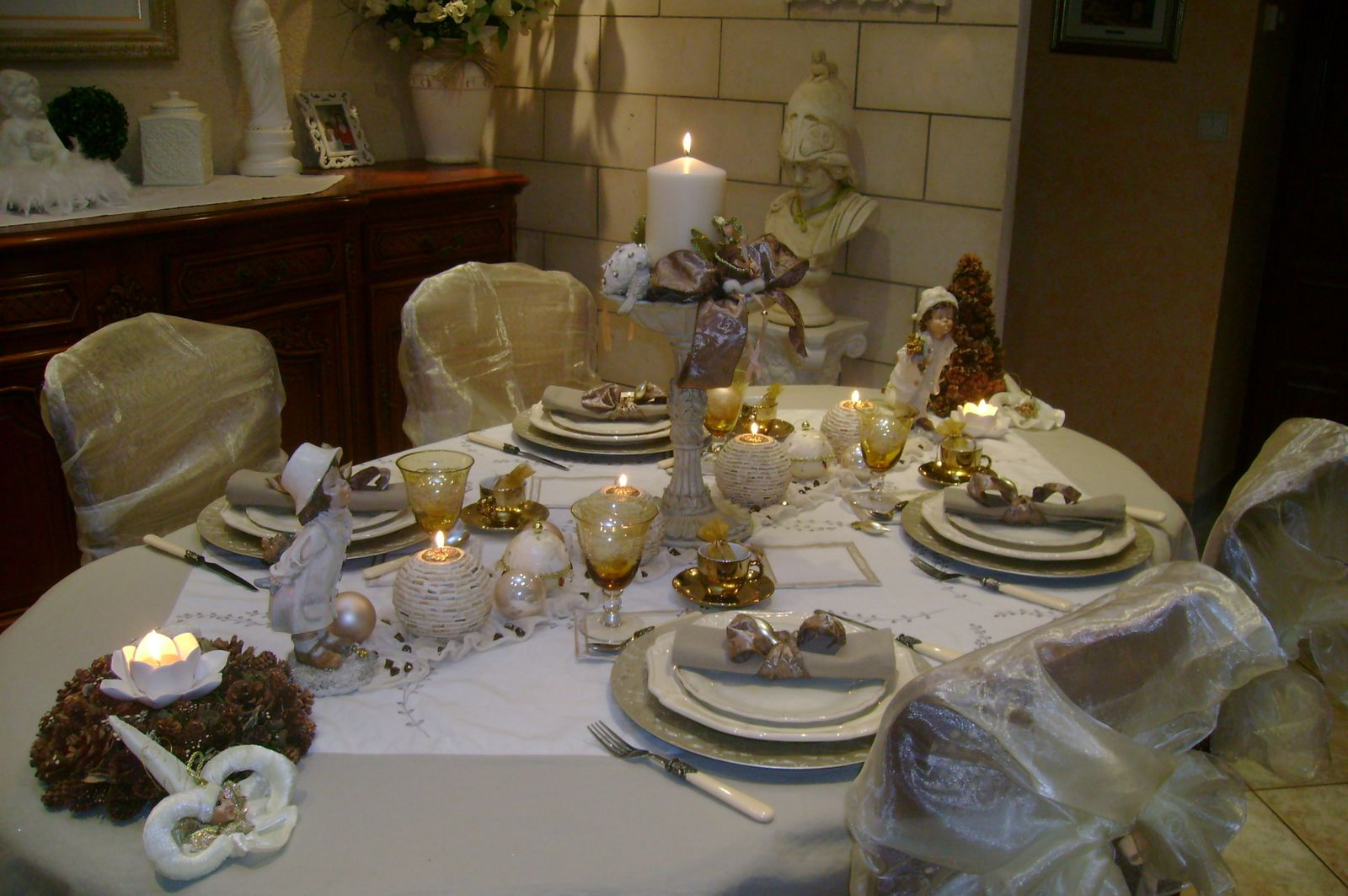 Table du d fis la plus belle table de noel mordue de d co for Decoration de la table