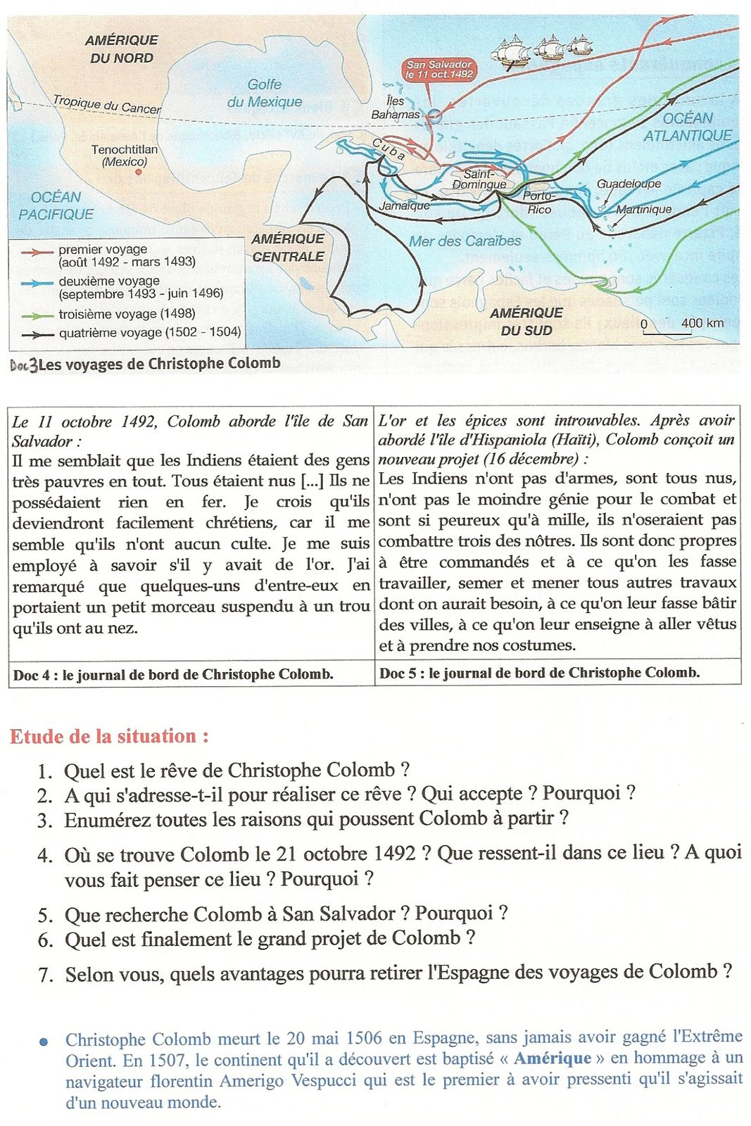 carte christophe colomb