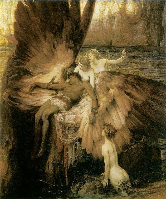 Herbert Draper-1. The Lament for Icarus 1898