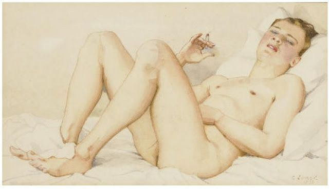 Konstantin-Andreevich-Somov--1869-1939-.Male-nude-with-ciga.jpg
