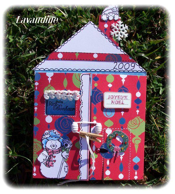 Carte maison de no l le blog de lavandine for Noel est a votre porte