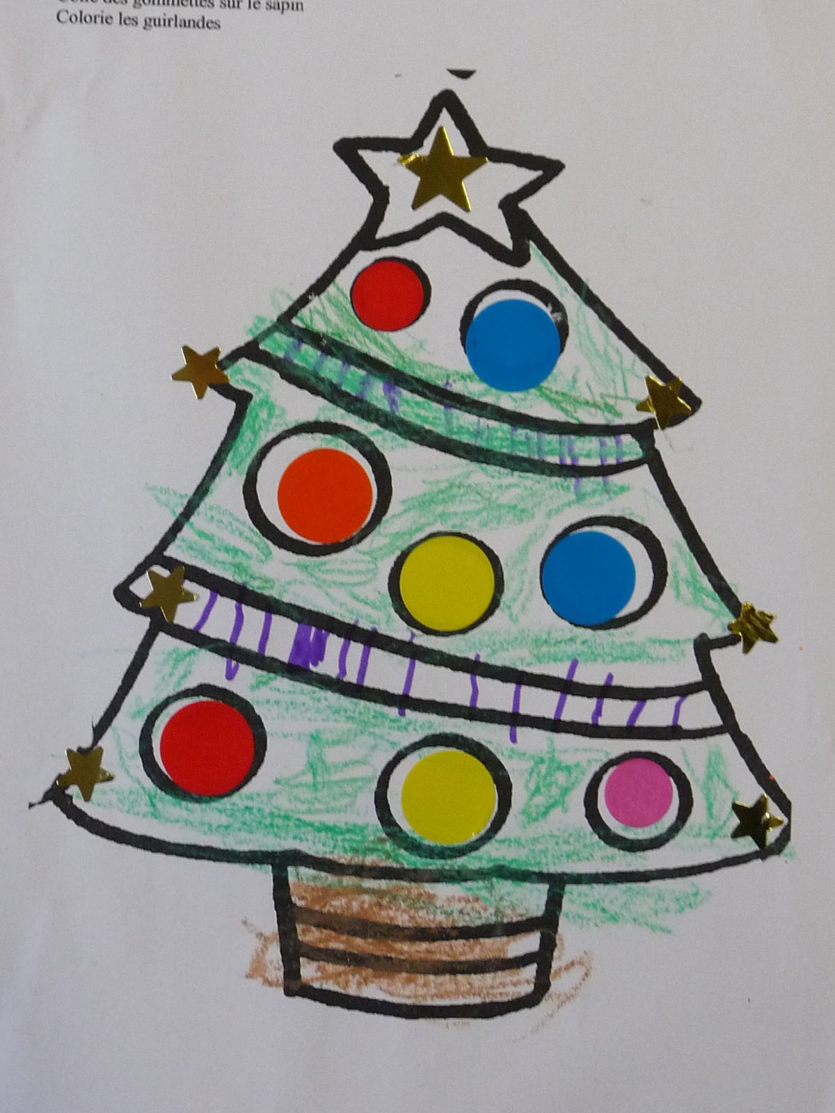 Coloriage Sapin Chez Camille