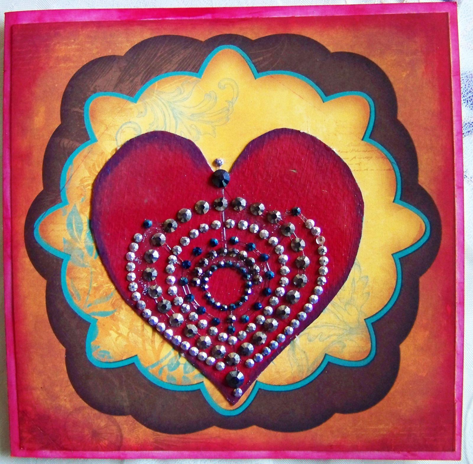 Challenge carterie no l ou le coeur est le moteur de la vie le des po tes - Coeur avec des photos ...