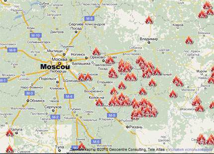 incendies map