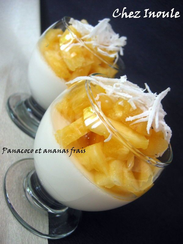 Panacoco et ananas frais