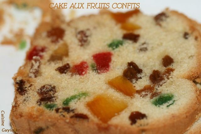 Gateau yaourt et fruits confits