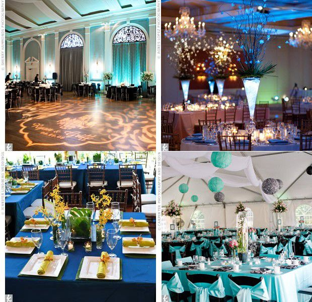 D co de salle de mariage bleue mariage id es for Decoration de salle
