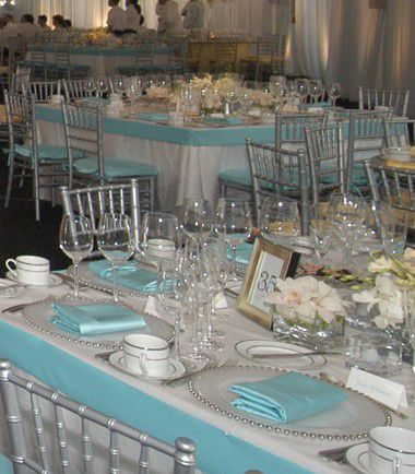 Deco de table bleue mariage id es for Decoration de table bleu