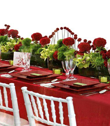 Id es de deco de table rouge mariage id es - Decoration de table originale ...
