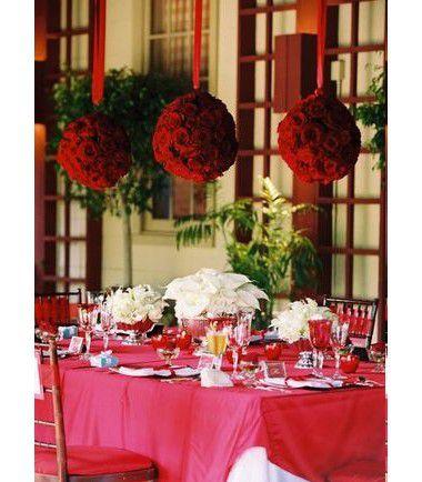 id es de deco de table rouge mariage id es. Black Bedroom Furniture Sets. Home Design Ideas