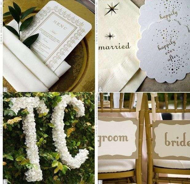 Decoration couleur doree or mariage id es - Idees photos mariage ...