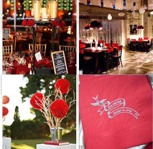 Deco salle mariage rouge mariage id es for Accessoire deco rouge