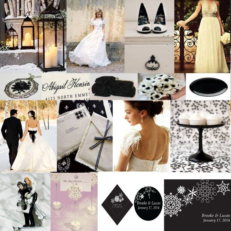 mariage noir et blanc hivernal mariage id es. Black Bedroom Furniture Sets. Home Design Ideas
