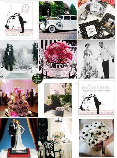 Mariage th me cinema mariage id es - Deco de table theme cinema ...