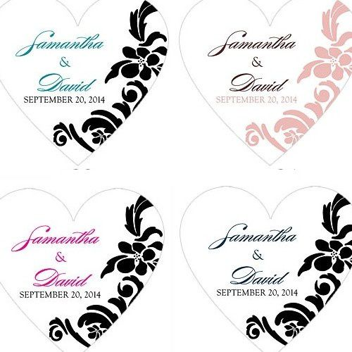 sticker coeur personnalis mariage id es. Black Bedroom Furniture Sets. Home Design Ideas