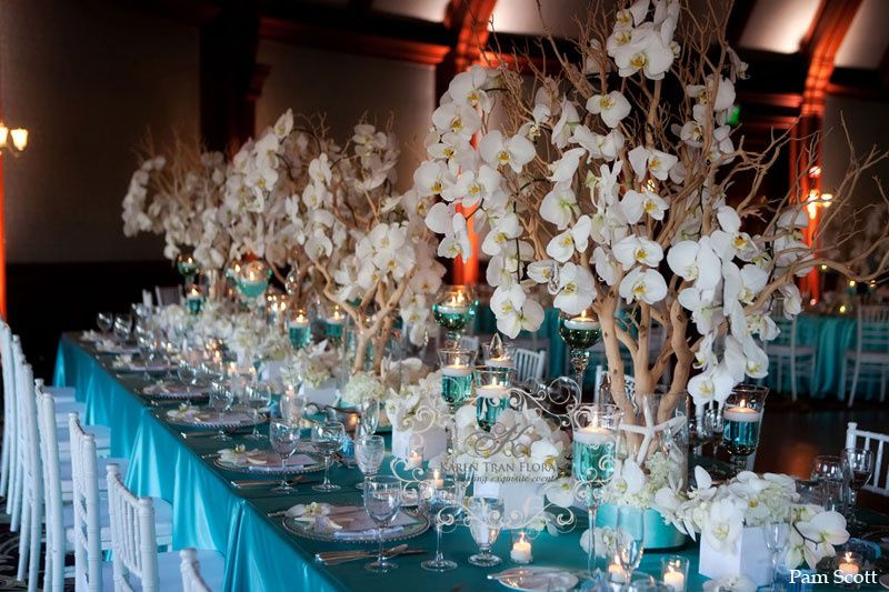 Dcoration De Table Mariage Bleue Thme Mer Ides