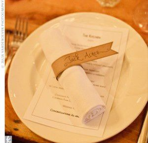 D coration de table mariage mariage id es - Deco de table serviette ...