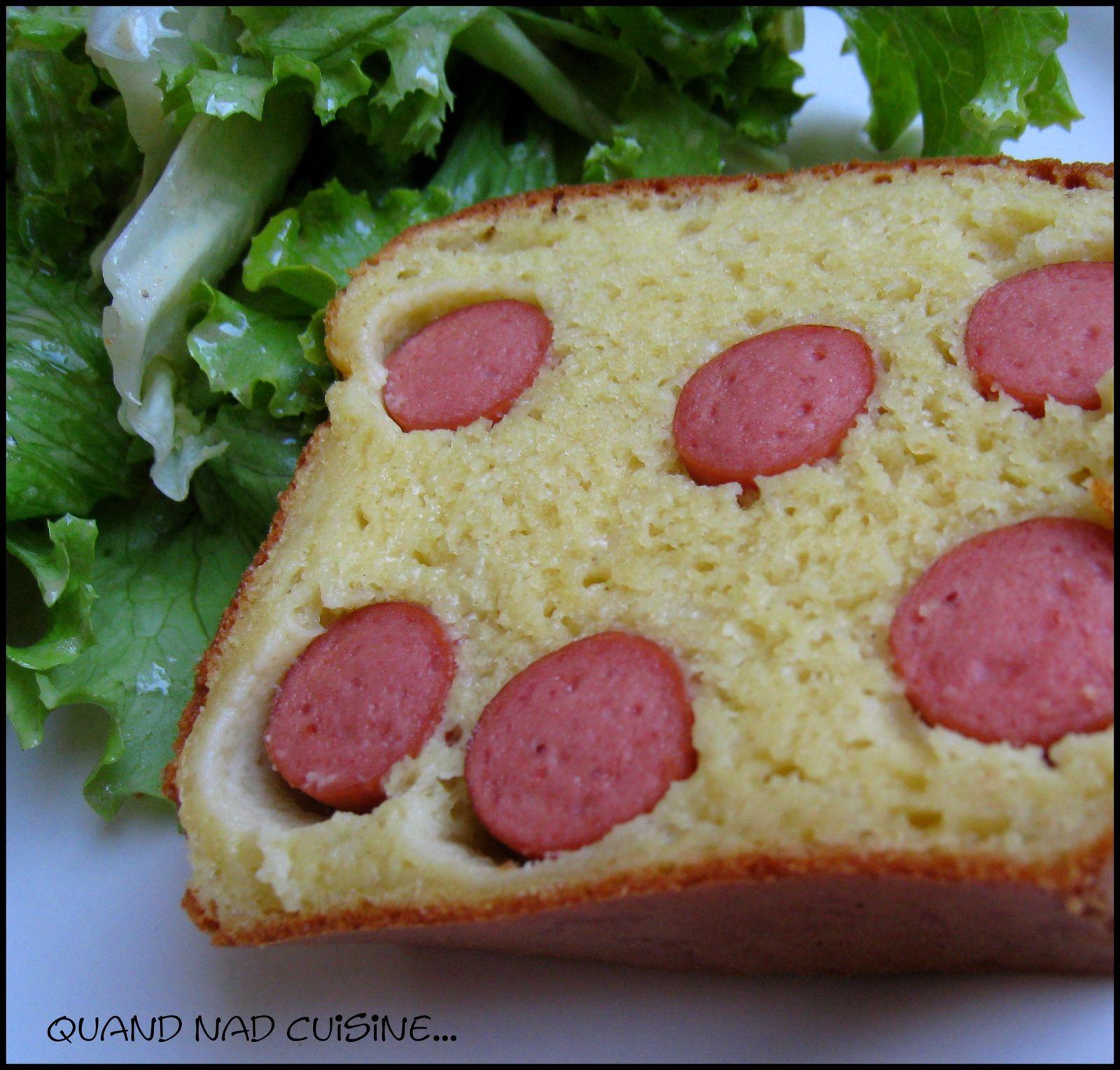 Cake hot dog la moutarde la bi re1