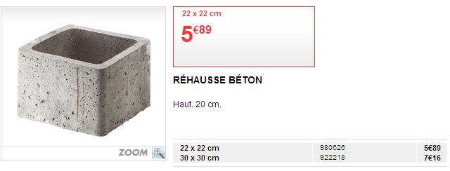 Rehausse regard leroy merlin construction maison b ton arm - Regard beton 60x60 ...