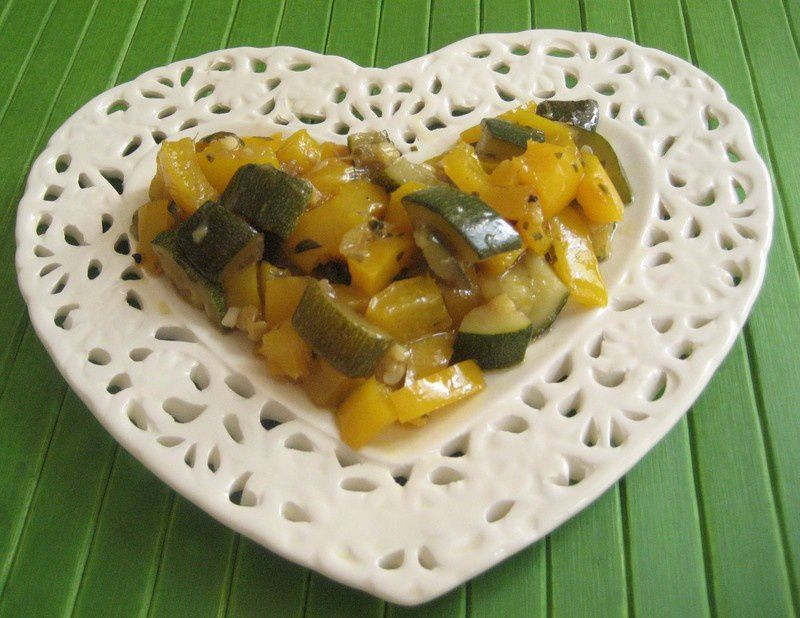 Salade courgettes poivrons