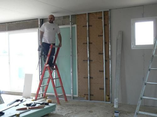 week end du 28 f vrier le placo l 39 autoconstruction d. Black Bedroom Furniture Sets. Home Design Ideas