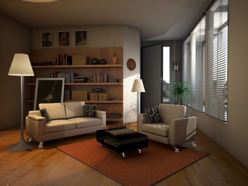 e tribart encore une sc ne d 39 int rieur avec vray. Black Bedroom Furniture Sets. Home Design Ideas