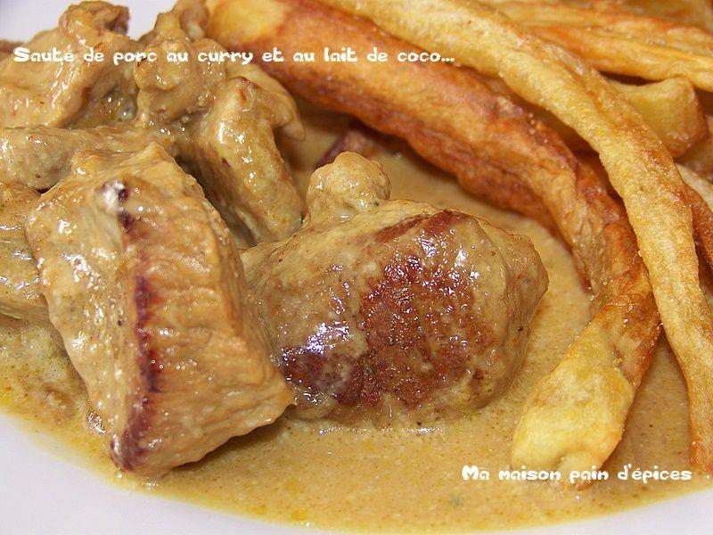 Saute De Porc Au Curry Et Au Lait De Coco