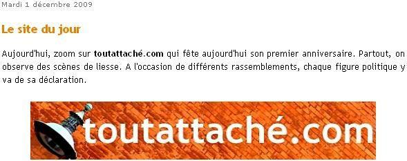 site du jour toutattaché.com