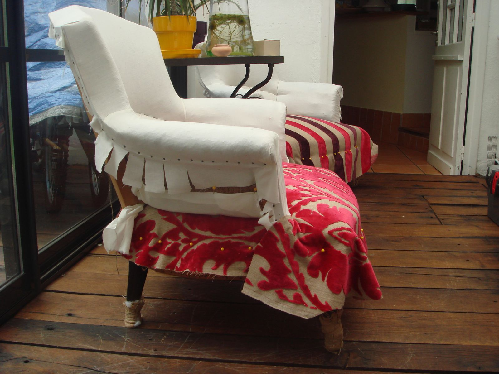 Crapaud Co Made In Chiner - Tapisser fauteuil crapaud