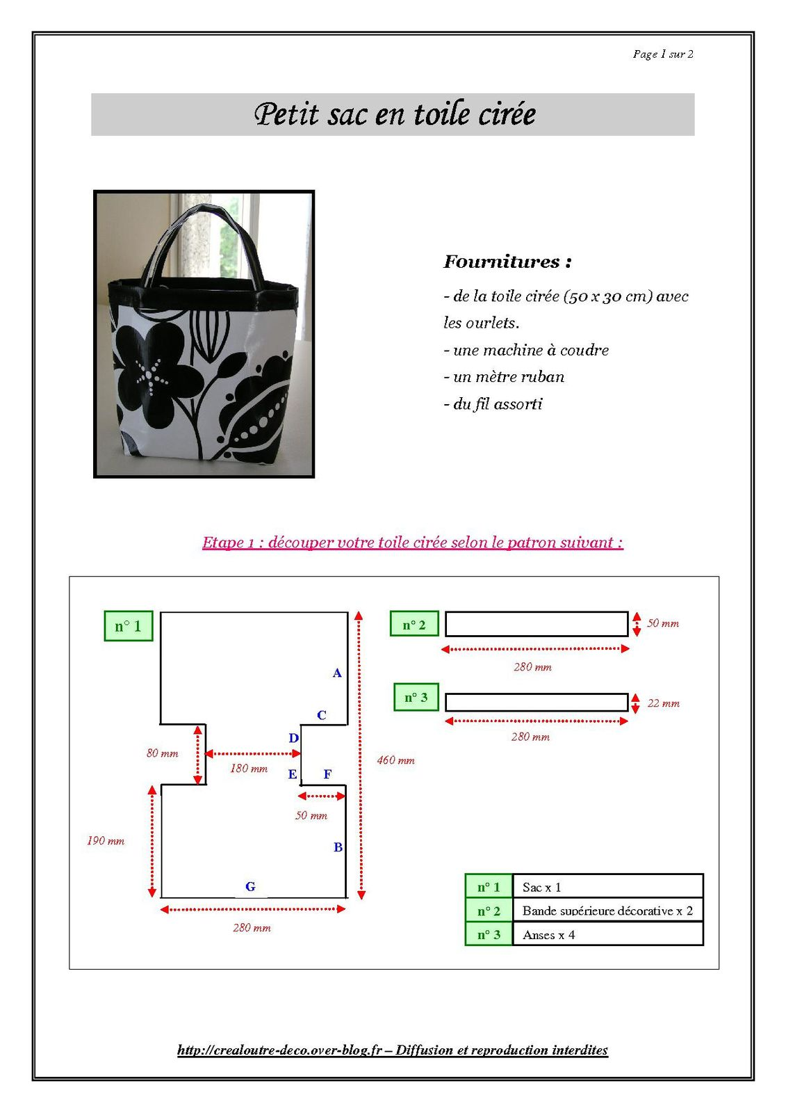 Tutoriel pour petit sac en toile cir e crealoutre - Comment faire un organisateur de sac ...
