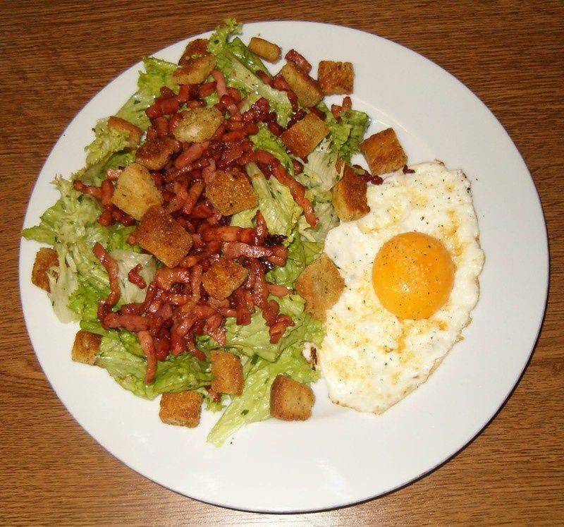 Fris e aux lardons la cuisine ma passion for Plat a cuisiner simple