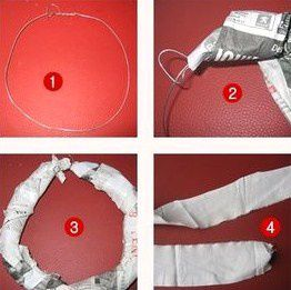 Faire une couronne de no l en papier journal - Comment faire une decoration de noel en papier ...