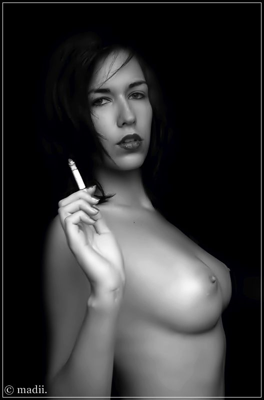 2011 smoking babes black and white series 1006 smokingfetis