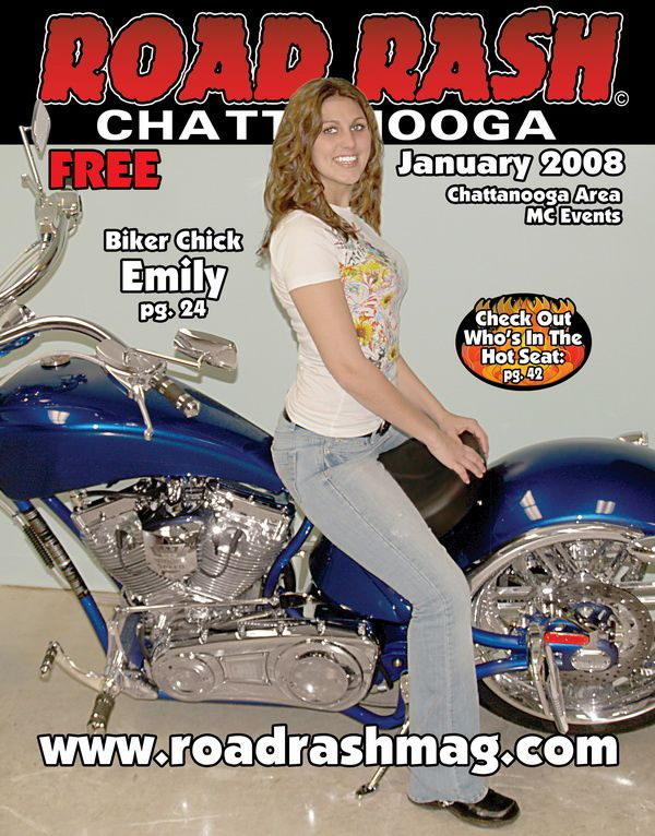 road rash magazine issue january 2008 Biker Chick Emily