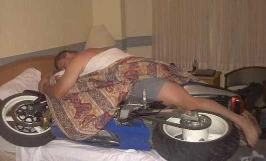 motorcycle sleep lover