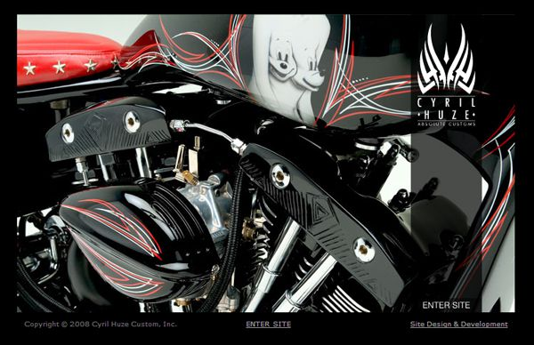cyril huze Custom Harley-Davidson Motorcycles & Accessories. On Line Catalog Of Custom Harley-Davidson Motorcycle Accessories, Parts, Apparel And Books.