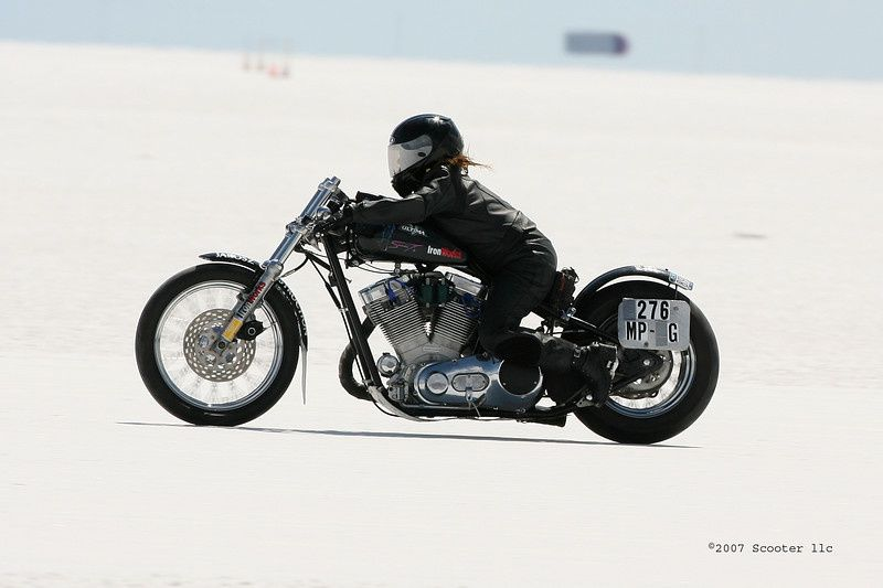 2007 BUB International Motorcycle Land Speed Trials on the Bonneville Salt Flats-Bikes on the Salt