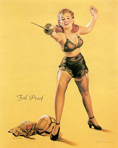 pin-up 0338 Foil proof