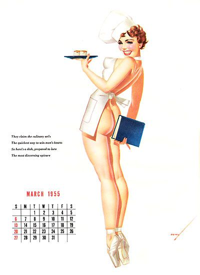 pin-up 0347 pinup petty 1955 march