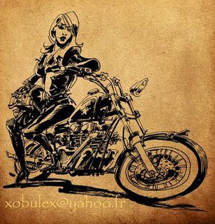 pin-up with a english bike