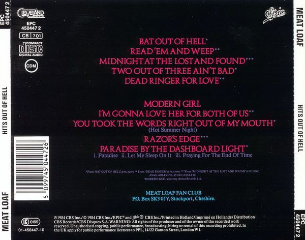 RPL 0371 Meat Loaf-Hits Out Of Hell 03
